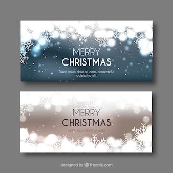 Helle frohe weihnachten banner