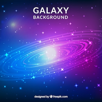 Helle galaxie hintergrund mit sternen