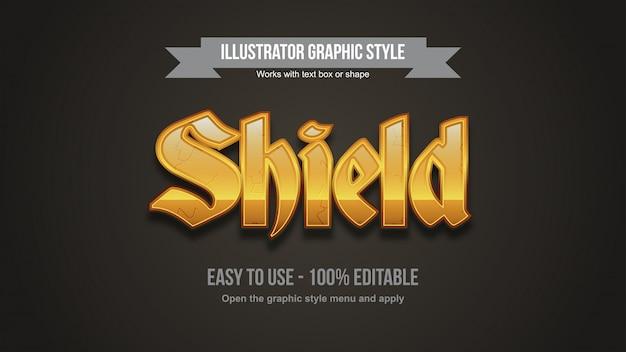 Helle goldene mittelalterliche gotische bearbeitbare typografie