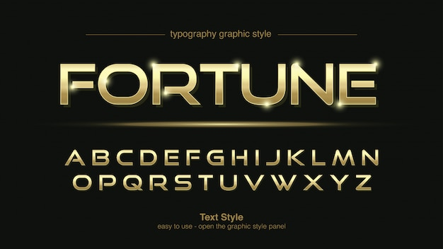 Helle goldene moderne display-typografie