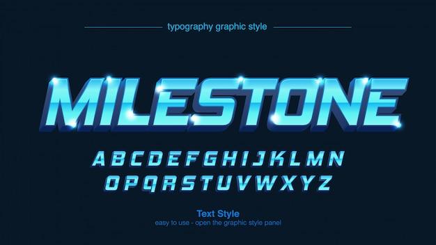 Helle lichter blau metallic moderne typografie