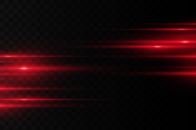Helle linien auf dunklem hintergrund. laserstrahlen leuchten. helle streifen auf dunklem hintergrund.