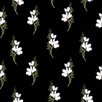 Helle magnolie nahtlose muster