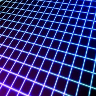 Helle neongitterlinien, die hintergrund glühen