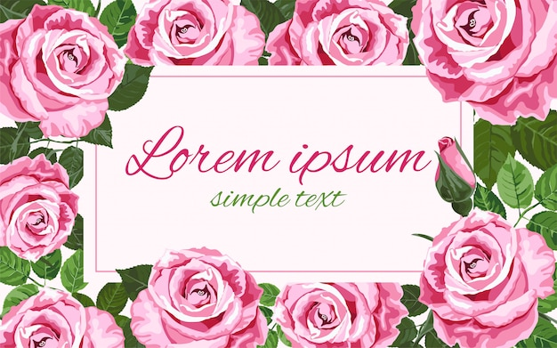 Helle rosa rosenhochzeitseinladungen