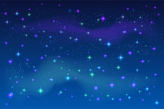 Helle sterne im blauen nachthimmel