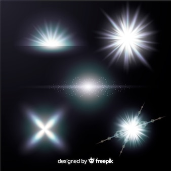 Helle weiße lichteffektsammlung