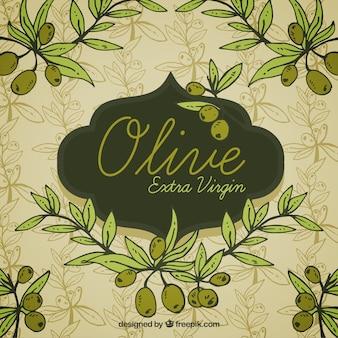 Hellen hintergrund mit oliven