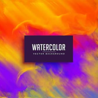 Heller aquarellhintergrund mit tinte fließenden effekt