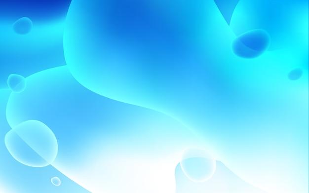 Heller blauer vektorhintergrund mit gebogenen kreisen