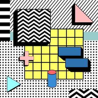 Heller block-bunter geometrischer stilvoller hintergrund