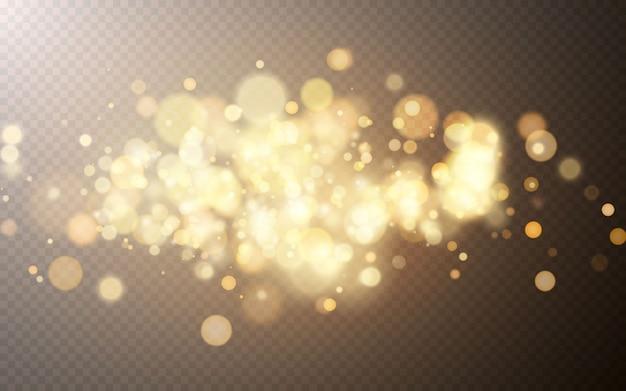 Heller bokeh-effekt. festlicher magischer leuchtender hintergrund. feiertagsentwurf für weihnachten.