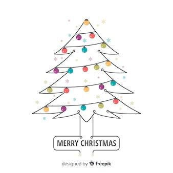 Heller girlanden-weihnachtsbaumhintergrund