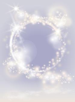 Heller hintergrund des abstrakten glühens. funkelnd