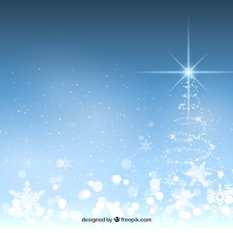 Heller hintergrund mit weihnachtsbaum