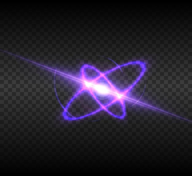Heller lichteffekt mit strahlen und highlights für die vektorillustration