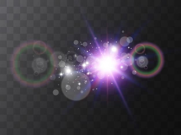 Heller schöner stern. vektorillustration eines lichteffekts