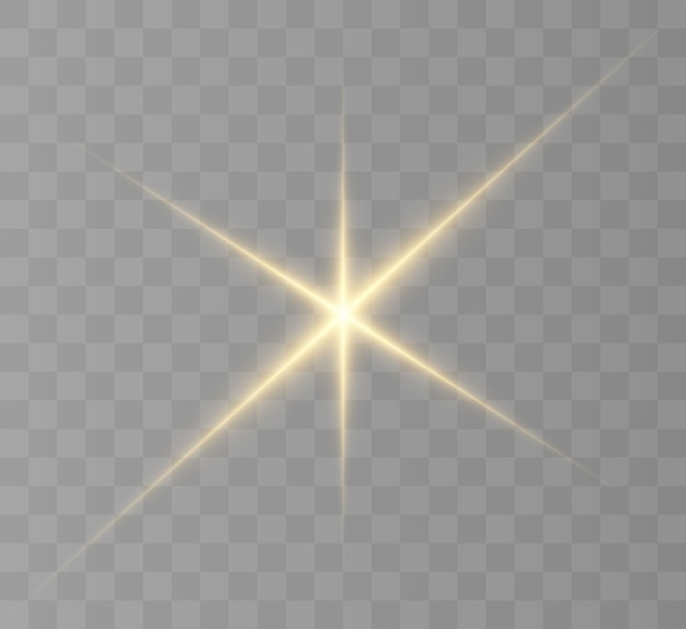 Heller stern, helle sonne, lichteffekt.