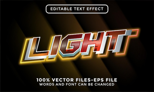 Heller text. bearbeitbare texteffekt-premium-vektoren