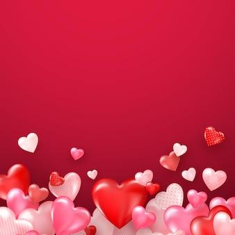 Heller valentinstag oder muttertag hintergrund