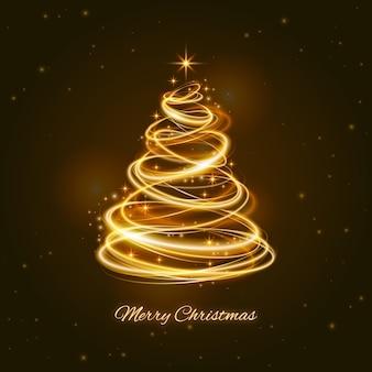 Helles hinterweihnachtsbaumkonzept