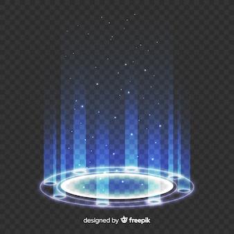 Helles portal auf transparentem hintergrund