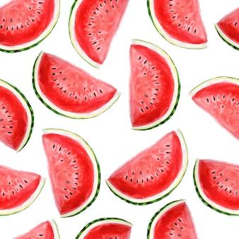 Helles sommeraquarellmuster mit wassermelonenröcken.