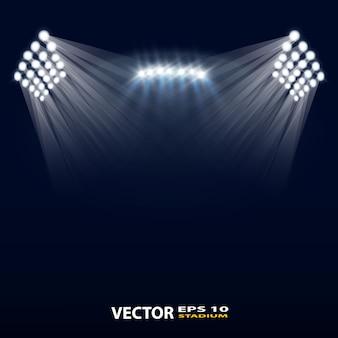 Helles stadion beleuchtet vektordesign