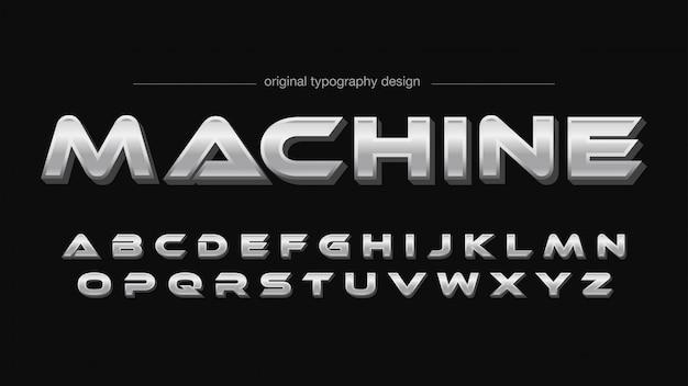 Helles stahl-typografie-design