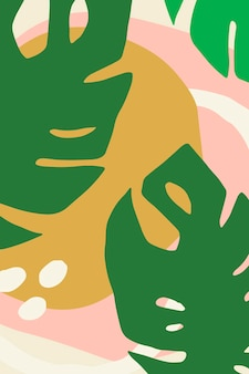 Helles und farbenfrohes poster mit blumenmuster