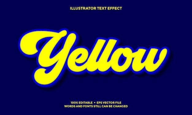 Hellgelbes und hellblaues 3d-texteffektstildesign