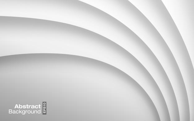 Hellgrauer heller farbwellenwellenhintergrund. visitenkarte modernes muster. papier graue kurve schatten textur.