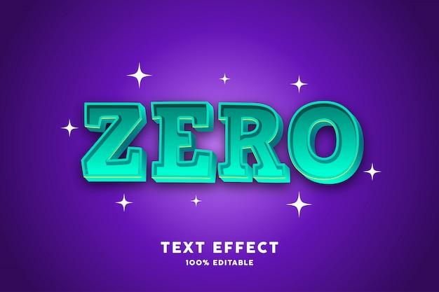 Hellgrüner mutiger effekt des textes 3d, editable text