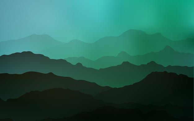 Hellgrüner vektorhintergrund mit gebogenen kreisen