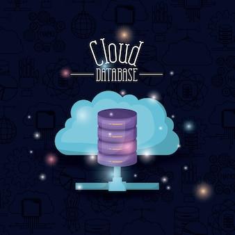 Helligkeit der bunten cloud-datenbank