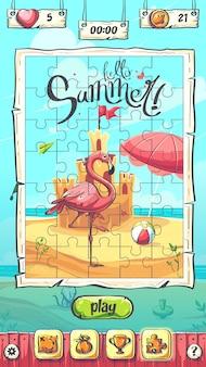 Hello summer puzzle den hauptbildschirm des spiels