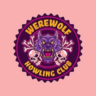 Helloween night party trick oder behandlung kürbis und schädel-vektor-design
