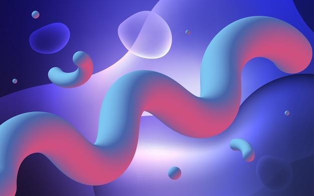 Hellpurpurner vektorhintergrund mit gebogenen kreisen