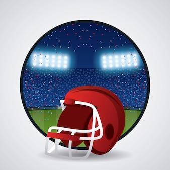 Helm des amerikanischen fußballs