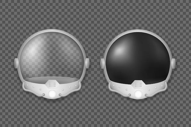 Helm des astronauten und kampfpiloten sicherheitsmaske mit schwarzem und transparentem glas