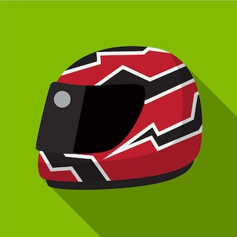 Helm flachbild symbol isoliert vektor-zeichen-symbol