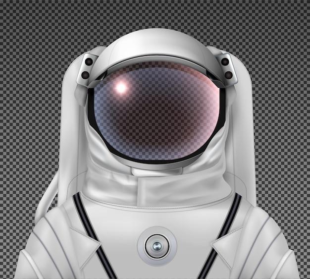 Helm und anzug eines realistischen astronauten