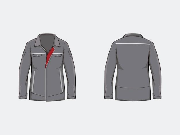Hemd oder stoff auf grauem hintergrund