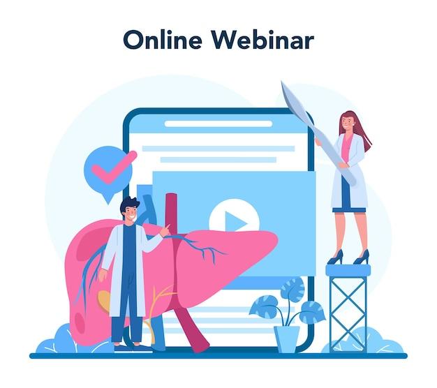 Hepatologe online-service oder plattform