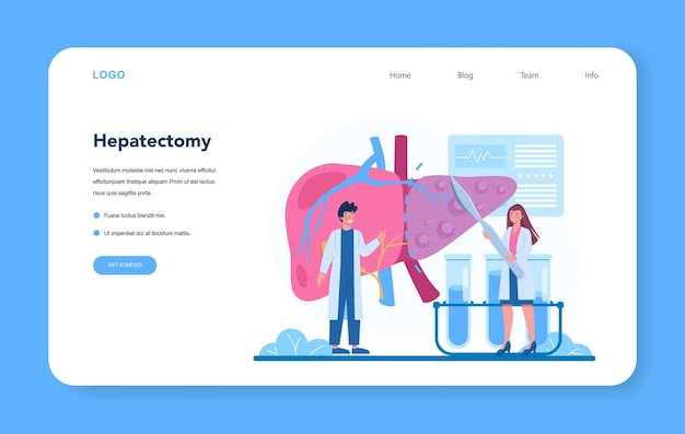 Hepatologe web-banner oder landing page