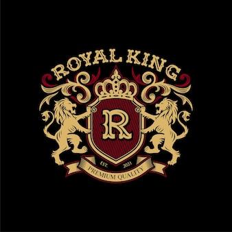 Heraldik löwe design vorlage luxus wappen logo