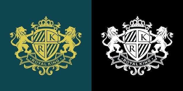 Heraldik löwe luxus-designvorlage