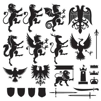 Heraldik-vektor-set