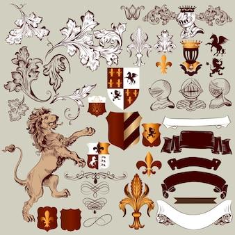 Heraldische elemente sammlung