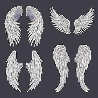 Heraldische flügel für tattoo-design.